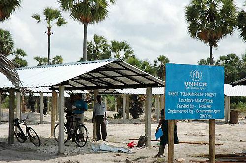 UNHCRによる仮設住宅