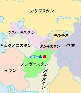 中央アジア諸国の北・東・西は米国に反発する国ばかり(地図作成:塩田涼)