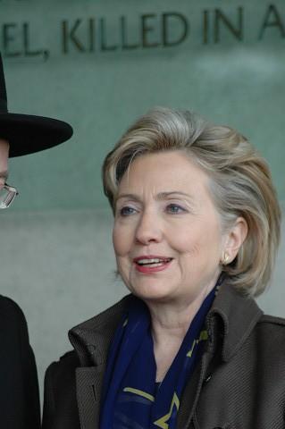 イスラエルを訪れたヒラリー・クリントン米国務長官(エルサレム市内。いずれも筆者撮影)