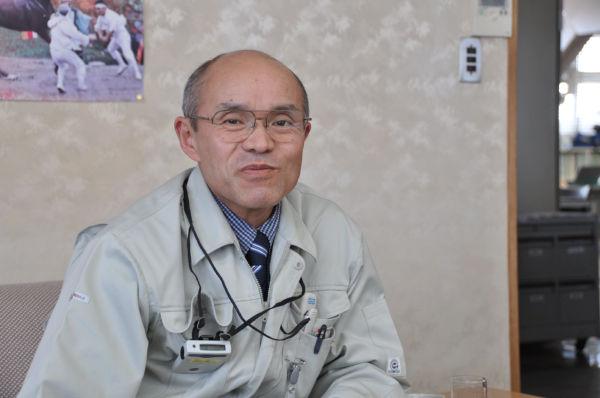 桜井勝延市長。人間性のかけらも感じさせない東電の対応に呆れ返るばかりだった。(3日、南相馬市役所。写真:筆者撮影)