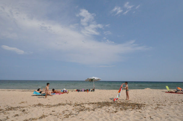 原発建設予定地のひとつサンタ・マルガリータのビーチ。島の最南端だ。(15日、カリアリ市。写真:筆者撮影)