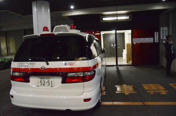 小沢氏が治療を受けているとみられる「高度救命救急医療センター」。(写真:筆者撮影)