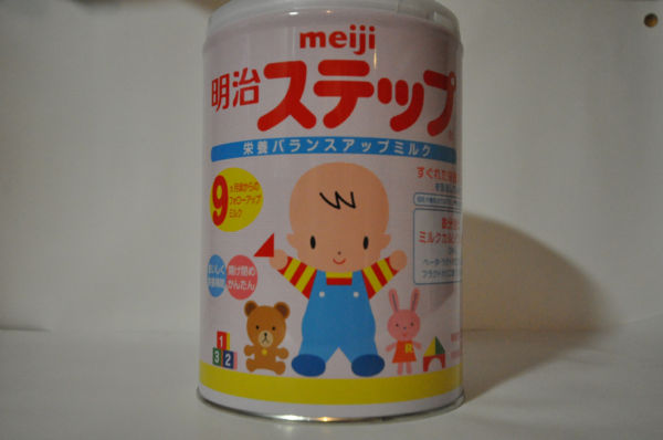 明治粉ミルク「ステップ」。放射性物質セシウムが検出された当該商品ではありません。