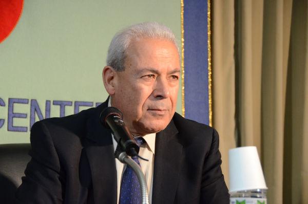 ブルハン・ガリユーン議長。1945年、シリア・ホムス生まれ。=11日、フォーリンプレスセンター。写真:筆者撮影=