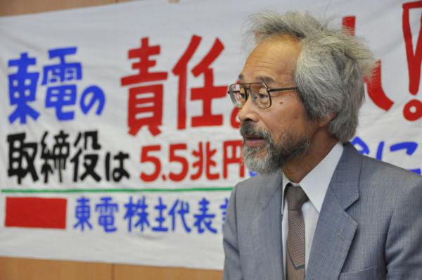 浅田正文さん。事故当時福島の農民にして東電の株主である。=写真:田中撮影=
