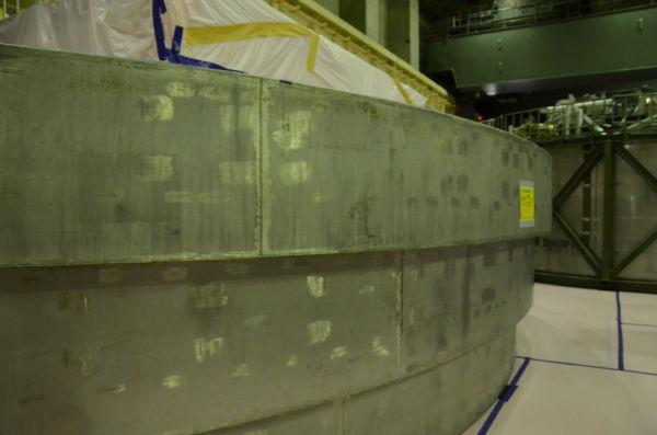=東電・福島第2原発4号機 原子炉建屋6階 写真:田中撮影=