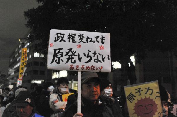 男性は「自民党政権になったら抗議ができなくなるかもしれない。警戒している」と話した。=21日、永田町。写真:島崎ろでぃ撮影=