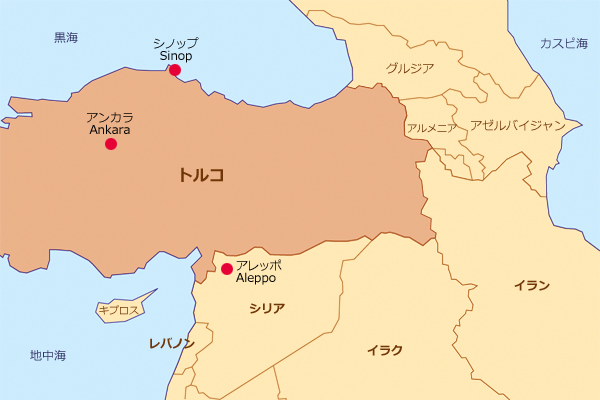 黒海沿岸でトルコ最北端のシノップ。 黒海沿岸でトルコ最北端のシノップ。 ◇ 関西の篤志家S様なら