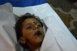 子供たちは何が起きたのか分からないままに死んでいったのだろう。=28日夕(日本時間:29日未明)、ガザ市内のモスク 写真:筆者=