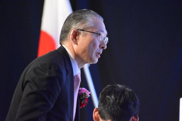 連合の神津会長は「党員サポーターの理解が得られているのか?・・・旧民主党の皆さんにはご対応して頂きたい」と釘を刺した。=27日、都内 撮影:筆者=