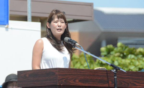 元SEALDs琉球の玉城愛さん。元米兵による女性殺人事件の現場となった うるま市  に住む。