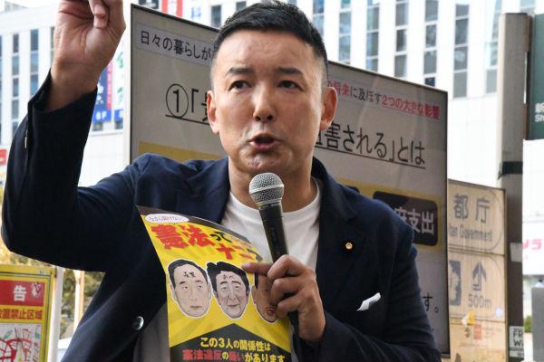 山本太郎議員。選挙で生き残るためとはいえ、自らの信念や政策を曲げることを潔しとしない。